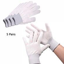 EHDIS – gants de travail enveloppés en vinyle, teinte de fenêtre, antidérapants, en Nylon, mitaines à main, autocollants de voiture, outils de nettoyage, 5 paires