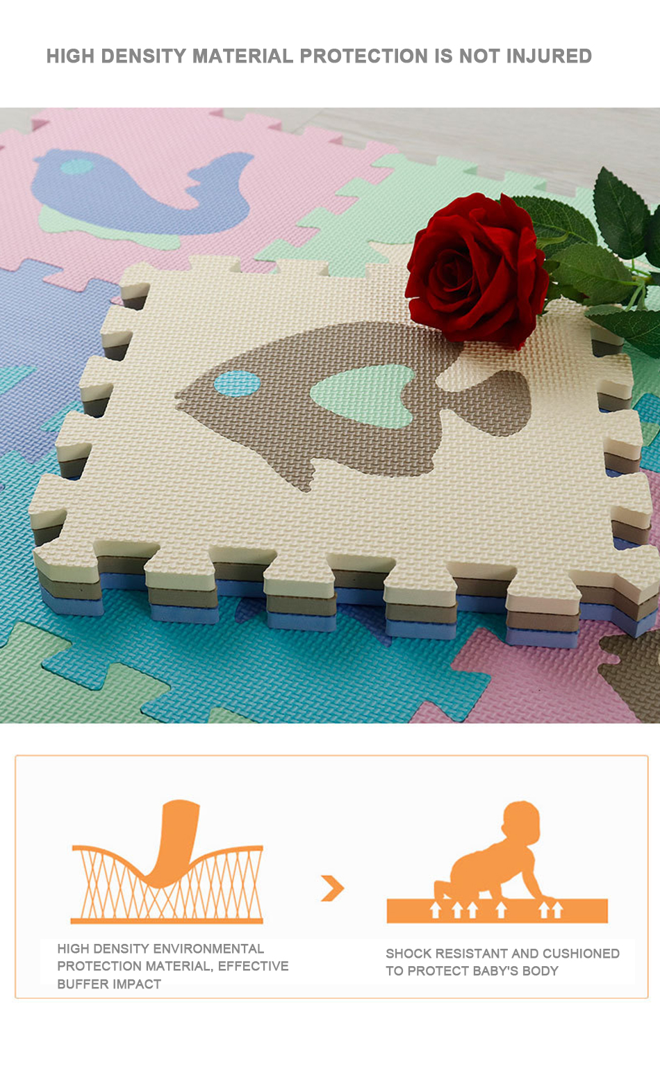 He3967de4bf464c34886067b5b48b29b2P 25Pcs Kids Toys EVA Children's mat Foam Carpets Soft Floor Mat Puzzle Baby Play Mat Floor Developing Crawling Rugs With Fence