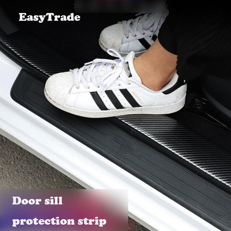 Car sticker Carbon Fiber Rubber Door Sill Car Styling Protector Goods For <font><b>Honda</b></font> <font><b>Accord</b></font> 2018 2019 <font><b>accessories</b></font> Interior Mouldings image