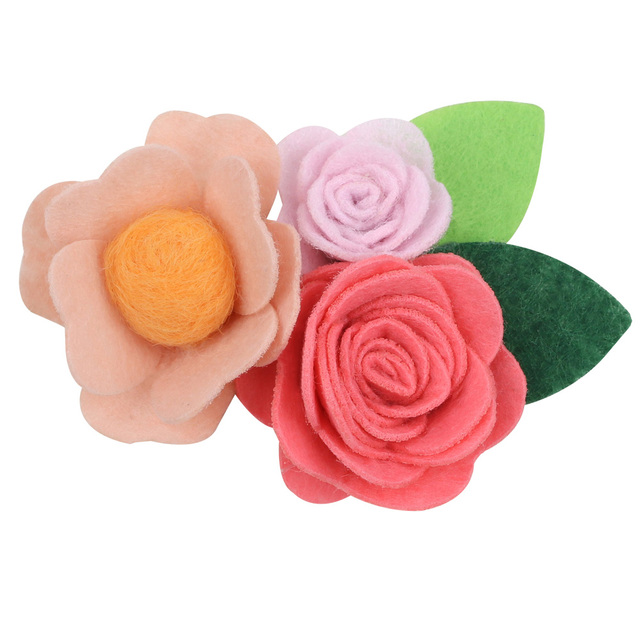 Baby Girl Floral Hair Clips for Girls Newborn Handmade Barrettes Floral Hair Clips Pins Infant Ornament Kids заколка для волос