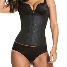 Black Latex Waist Trainer Slimming Underwear Cincher Corset Belt Modeling Strap Body Shaper