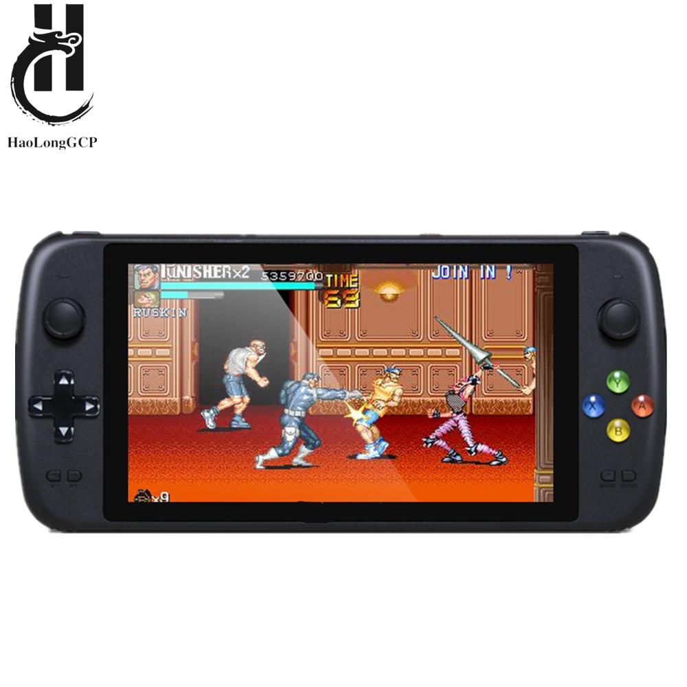 Портативный игровой консоль с четырехъядерным процессором 7 дюймов для ps1 Arcade mame 8/16/32/64/128 бит видеоигры встроенные 5000 бесплатных игр