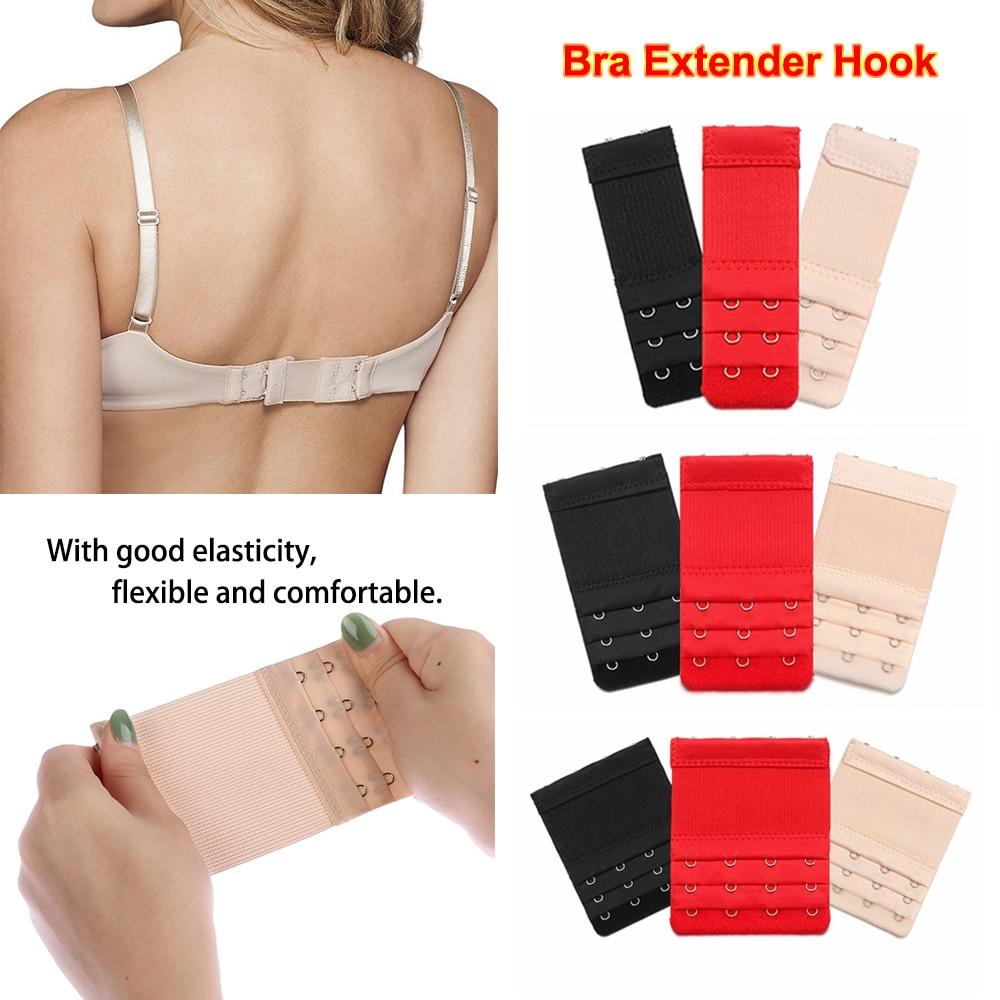 3-4 Hooks Elastic Bras Extenders Strap Clip On Extension Black Beige Red White