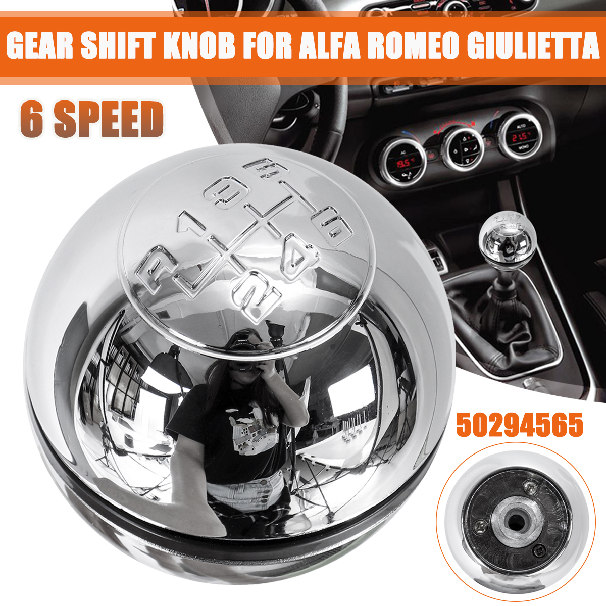 6 скоростей Хромированная ручка переключения рулевого механизма автомобиля рычаг переключения для Alfa Romeo Giulietta 2010-on