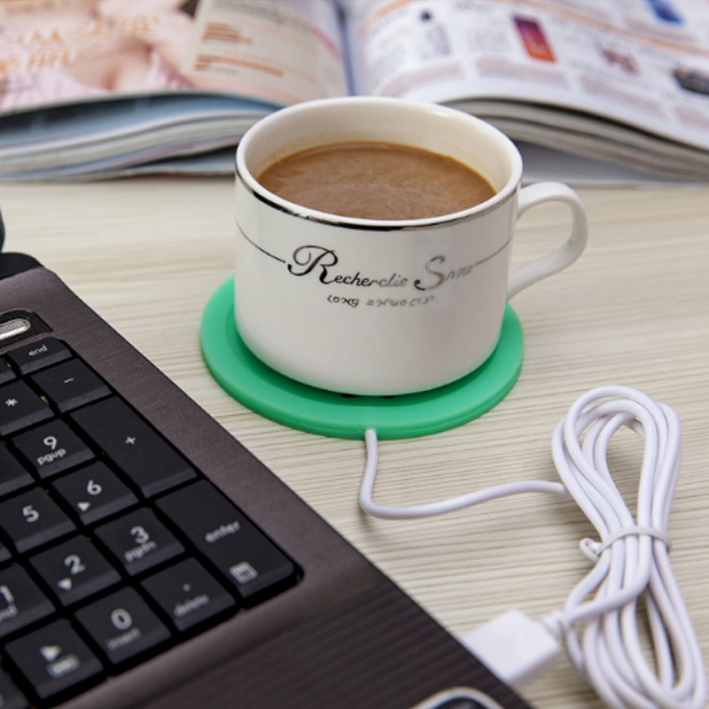 Cup Warmer Mat Plate Mug Pad Tea Milk Hot Drinks Heater  5V USB Cartoon Silicone 4XFB
