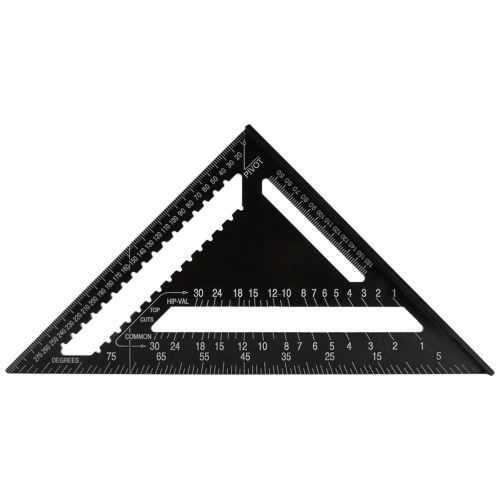 Açı Cetvel 7/12 inç Metrik Alüminyum Alaşım Üçgen ölçüm cetveli Ahşap Hızlı Kare Üçgen Açı İletki