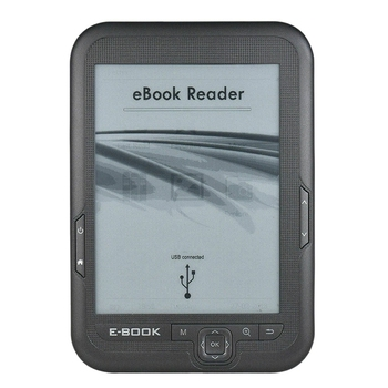 6 Inch 16GB Ebook Reader E-Ink Capacitive E Book Light Eink Screen E-Book E-Ink E-Reader MP3 with Case, WMA PDF HTML
