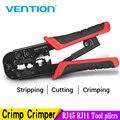 Vention RJ45 Crimping Tool RJ45 Network Cutting Tools 8P RJ45 Crimper Cutter Stripper Plier for Modular RJ12 RJ11 Crimp Crimper