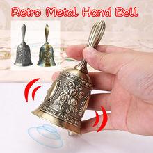 FengShui Loud Call Meditation Hand Bell Lucky Dinner Prayer Alarm Portable Desktop Tea Tibetan Buddhist Service Handmade Brass