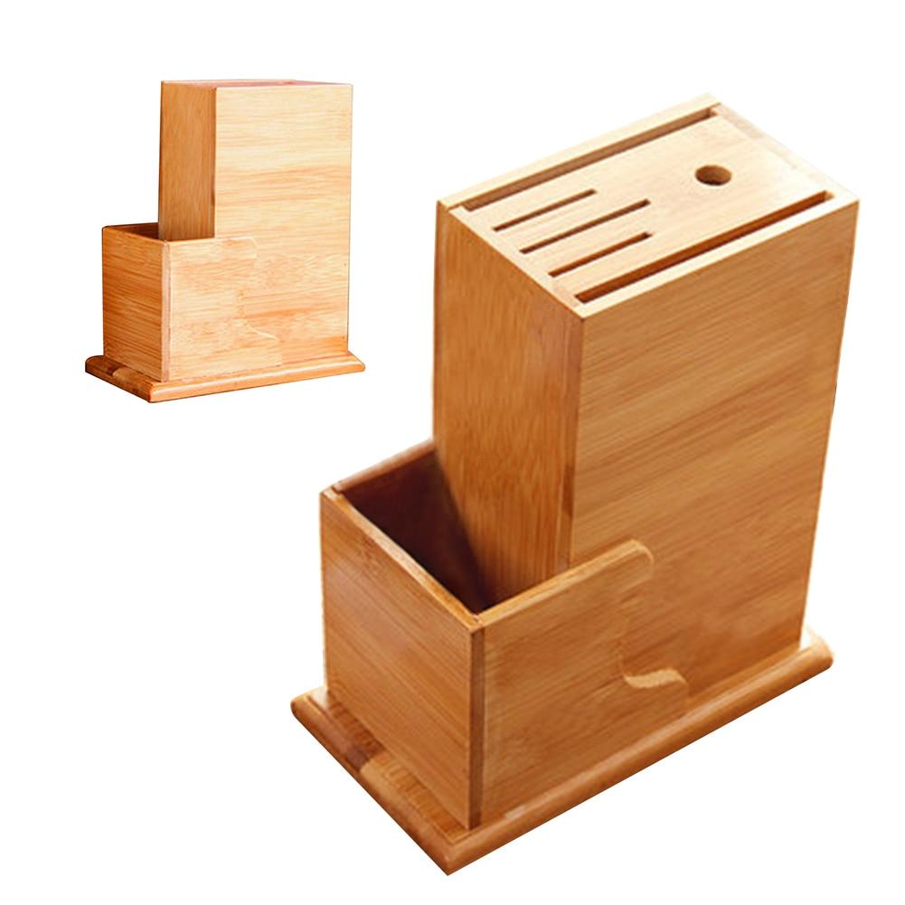 Storage Rack Slot Tool Forks Holder Kitchen Chopper Chopsticks Bamboo Wood Organizer Home Natural Spoon Block Stand Scissor