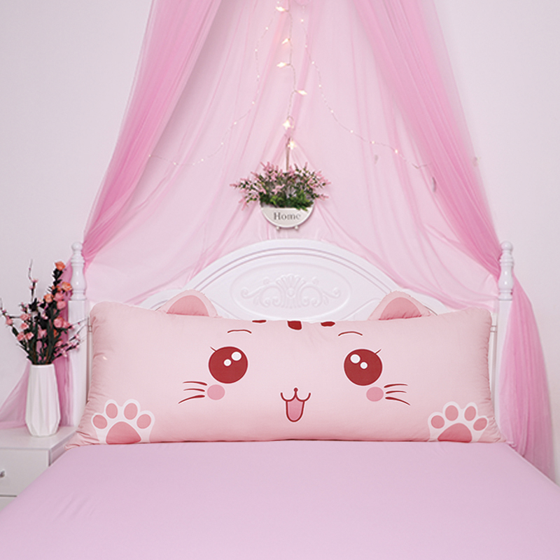 Net Red Princess Bed Cushion Double Back Cushion Cartoon Pillow Cute Children's Bedroom Bed Long Pillow