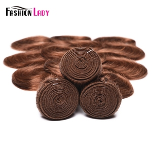 Image 5 - Mechones de moda para mujer, cabello humano indio tejido n. ° 30, cabello ondulado, 1/3/4 mechones por paquete, cabello no Remy
