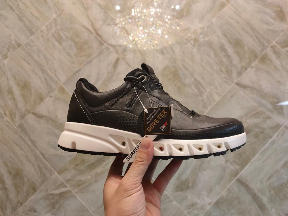 Ecco Leather Shoes Youth Men Oxygen Casual Shoes Breathable Comfortable Outdoor Low To Help Black Wild Leather Footwear 880124