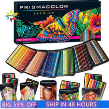 prismacolor sanford art oily color Pencil 24 48 72 132 150 color lapis de cor wood colored pencils artist sketch school supplies
