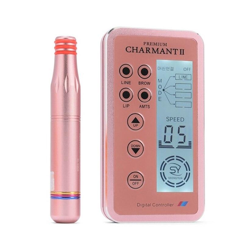 1 pçs novo design digital charmant 2 kits de máquina maquiagem permanente para lábios sobrancelha rotativo suíço microblading mts caneta conjunto