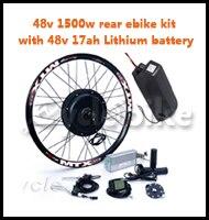 48v 1500w rear ebike kit with 48v 17ah Lithium battery