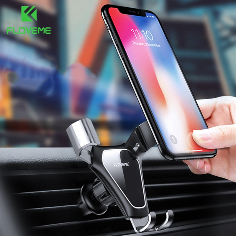 FLOVEME Gravity Car Phone Holder Air Vent Mount Car Cell Phone Holder Stand For Phone In Car Auto For Mobile Phone Car Holder