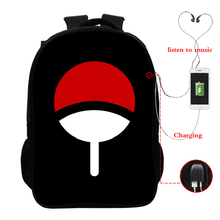 Naruto USB Charging Backpack Mens and Womens Boys Schoolbags Fashion Laptop Youth Bag