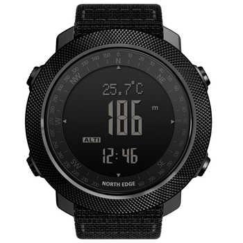 NORTH EDGE Altimeter Barometer Compass Men Digital Watches Sports Running Clock Climbing Hiking Wristwatches Waterproof 50M