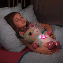 Unicorn Plush Toy with Starry Projector Star Belly Dream Night Lights Stuffed Animal Comforting Doll Bedroom Decor Star Sky Lamp
