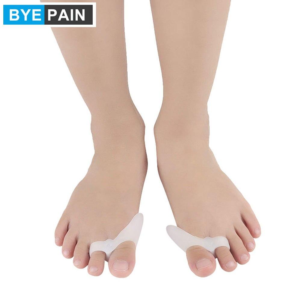 1 пара BYEPAIN детский маленький корректор бурсита большого пальца стопы Корректор вальгусной деформации для детей коррекция пальцев ног Уход ...
