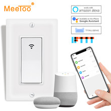 WiFi Smart Light Switch Push Button Smart Life/Tuya APP Remote Control Works with Alexa Google Home Voice Control US 1/2/3 Gang(China)