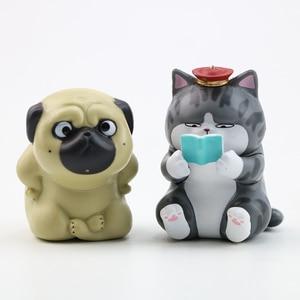 Image 5 - 5/8 Pcs/ชุดน่ารักEmperor Mini Dog Cat Action Figure Toyขี้เกียจแมวPug Dogสัตว์ตุ๊กตารูปคอลเลกชันเด็กวันเกิดของขวัญ
