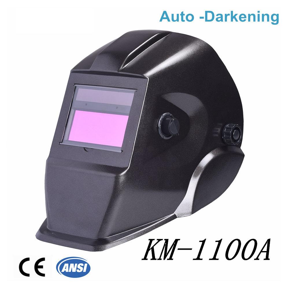 Mascara de soldadura de oscurecimiento automático de alta calidad KM-1100A