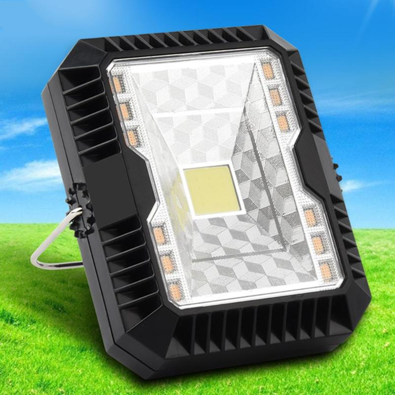 Flood LED Solar Light USB Rechargeable 10W Portable Lamp 3 Modes Dimmable Outdoor Waterproof Working Camping Lighting