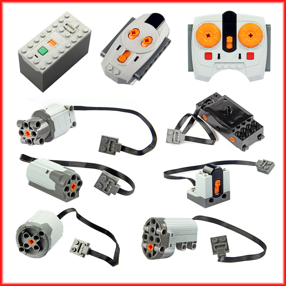 Technic Parts Compatible For Legoeds Multi Power Functions Tool Servo Blocks Train Electric Motor PF Model Sets Building Kits