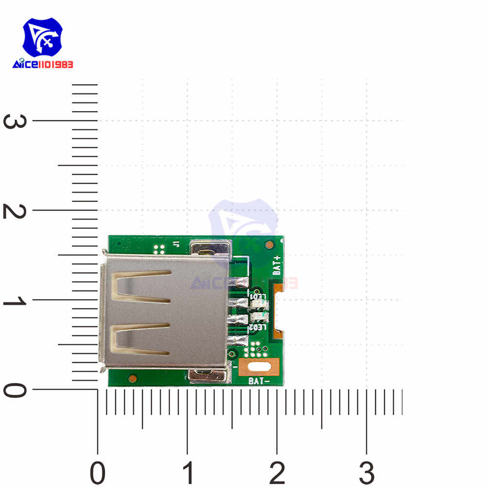 2 قطعة 5 فولت وحدة امدادات الطاقة بطارية ليثيوم شحن لوح حماية تصعيد دفعة محول LED عرض المصغّر usb لتقوم بها بنفسك شاحن