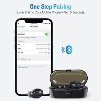 Bluetooth-Compatible V5.0 Earphones TWS True Wireless Headphones In-Ear Earbuds Waterproof Mini Headsets Stereo Sports Earpiece 6