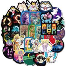 Waterproof Sticker Japanese Anime Toys Suitcase Sailor Moon Children's 50pcs/Set New