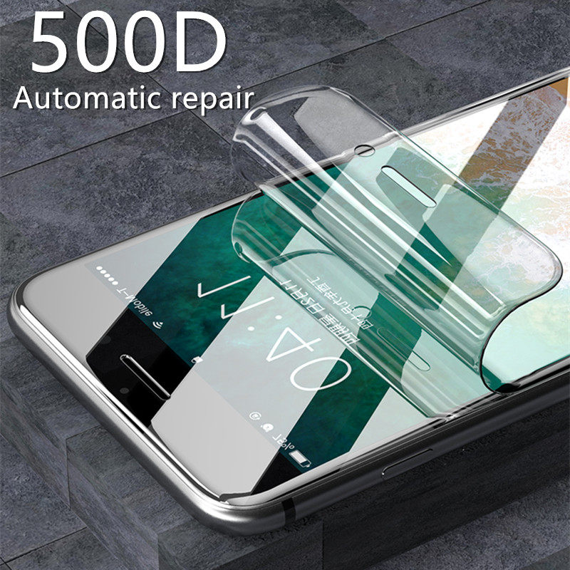 500D Not Glass Hydrogel <font><b>Film</b></font> For <font><b>iPhone</b></font> 7 8 Plus <font><b>6</b></font> 6s Plus Screen Protector <font><b>iPhone</b></font> X XS XR XS Max 11 Pro 5S Soft Protective <font><b>Film</b></font> image