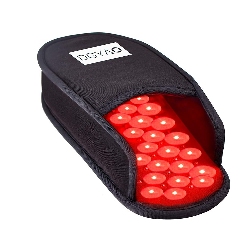 DGYAO 660nm LED Red Light and 880nm Near Infrared Light Therapy Devices Slipper for Foot Pain Relief