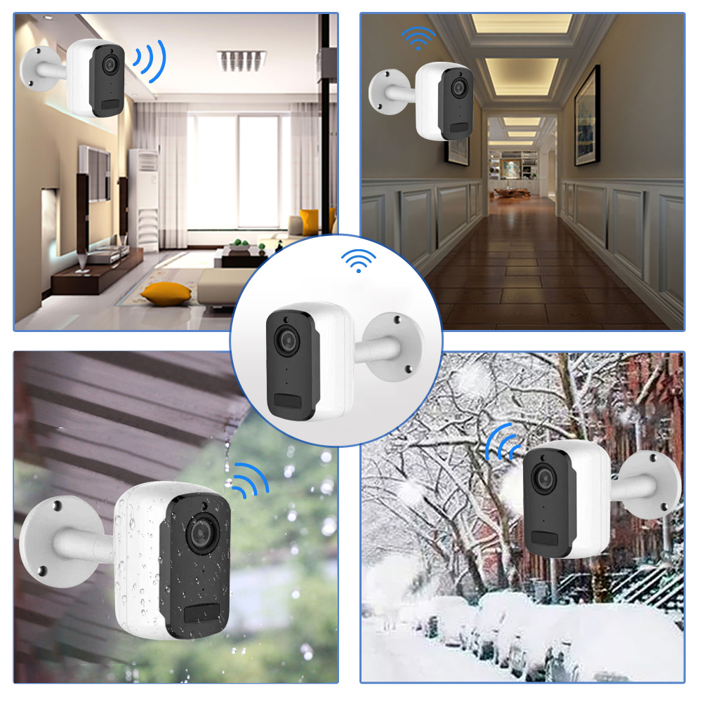 Image 5 - SDETER 1080P Rechargeable Battery CCTV Wifi Camera IP Outdoor IP65 Weatherproof Indoor Security Camera PIR Motion Alarm Audio-in Surveillance Cameras from Security & Protection