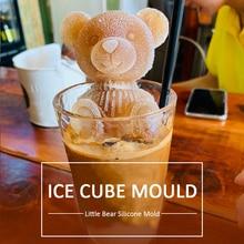 3D кубики для льда, лоток в форме маленького медведя, инструмент для мороженого, кубики для виски, вина, коктейля, льда, креативные кубики для ...