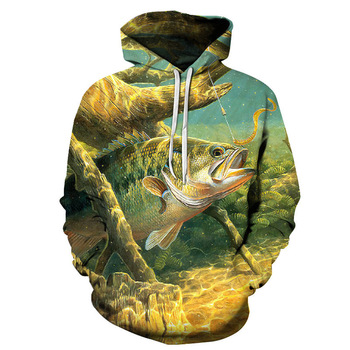 New Men 3D Fishing Clothing Autumn Winter Warm Fishing Clothing Jacket with hat Outdoor Cycling Sport Sweatshirt Fishing Clothes