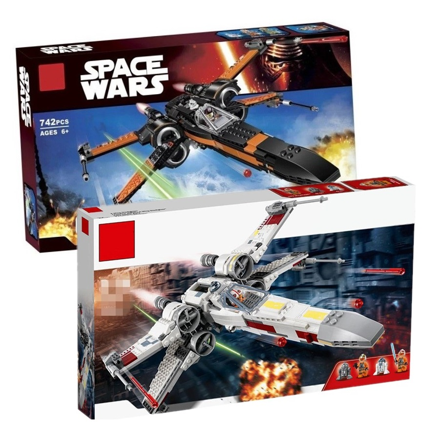Compatible Legoinglys Star Wars Order Poe's X Toys Wing Fighter Building Block Bricks Educational Gifts StarWars