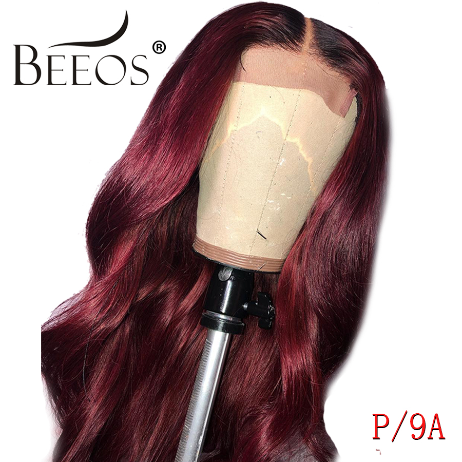 Beeos Ombre Colored 13*6  Lace Front Human Hair Wigs 8-26
