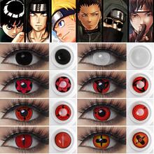 Anime Cosplay Mangekyou Itachi Sharingan soczewki kontaktowe dla oczu Kakashi Sasuke soczewki kontaktowe kostium soczewki kontaktowe Cosplay Anime tanie tanio Magister CN (pochodzenie) 14 5 Dwa kawałki 0 06-0 15 mm PHEMA Piękna źrenica Anime Cosplay Mangekyou Itachi Sharingan Contact Lenses For Eyes