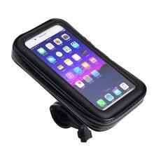 Водонепроницаемый велосипедный держатель для мобильного телефона, сумка для крепления телефона мотоцикла 5,5/6,3 дюймов, чехол для телефона с сенсорным экраном для велосипеда