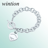 Wintion tiff Bracelet Original 100% 925 Sterling Silver Women Free Shipping Jewelry High end Quality Gift have logo 1:1