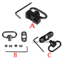 Swivel Stud Mount Adapter For M Lok Rail Quick Release QD Sling Swivel Adapter Rail Mount Tools Kit Hunting Outdoor Sports Mount totrait sling swivel stud adapter rail mount m lok strap quick release qd sling swivel adapter rail mount tool kit accessories