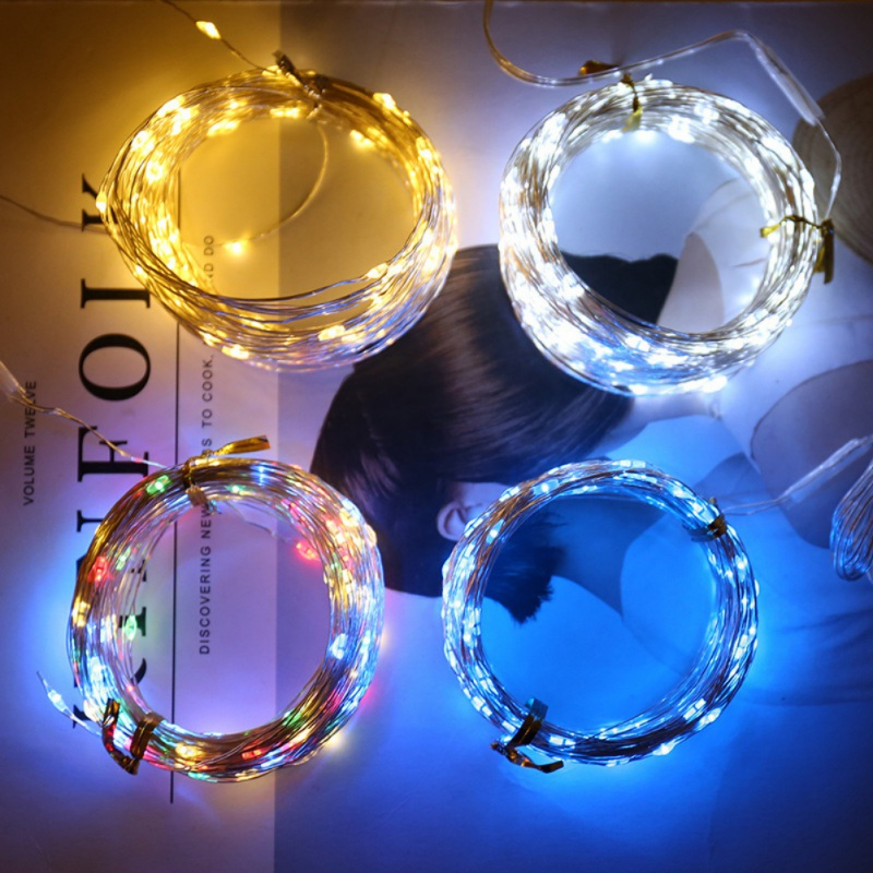 5M 10M Copper Wire LED String Lights Holiday Lighting Fairy Garland For Christmas Tree Wedding Party Decoration