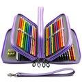 72 Отверстия пенал для школьных Staionery комплект для мальчиков и девочек пенал  большая из искусственной кожи ручка коробки большое хранение к...