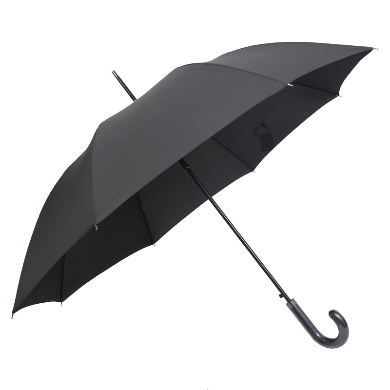 MEN'S Black Umbrella Long Handle Outdoor Automatic Double Extra Large Windproof Long Umbrella Customizable Creative Logo Adverti