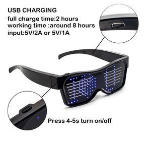 Image 2 - Bluetooth APP contrôle lunettes à LED pour clignotant affichage des Messages, Animation, DJ fête danniversaire cadeau de jouet pour enfants