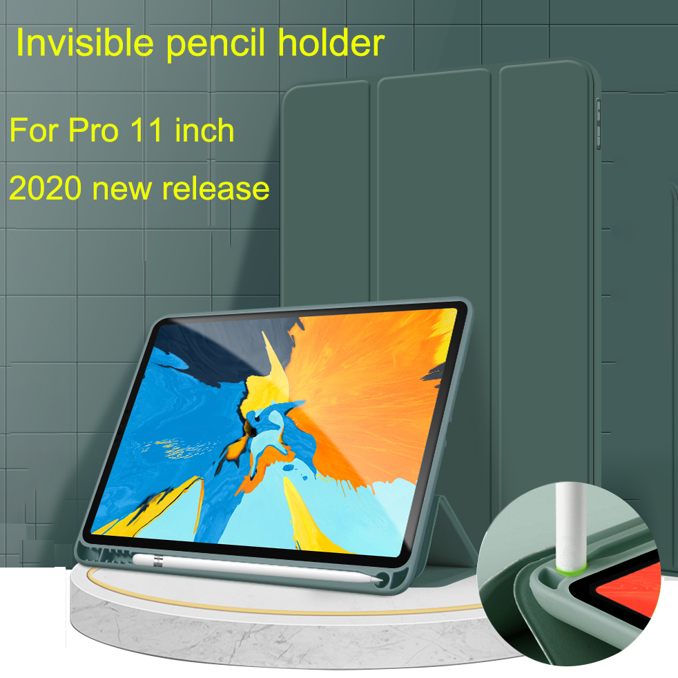 2020 Leather iPad Magnetic Pro 112020 PU 11 iPad case Protective Case for for Pro Stand