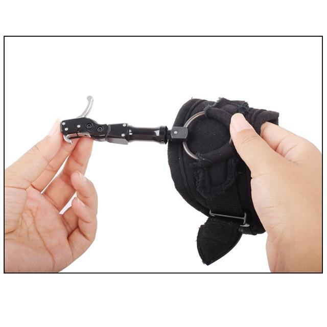 Elong Outdoor Black Color Archery Caliper Release Aid Compound Bow Strap Shooting Pro Arrow Trigger Wristband 3